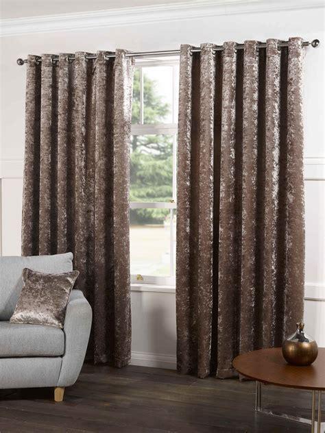 beige velvet curtains chagne beige velvet lined ring top eyelet curtains