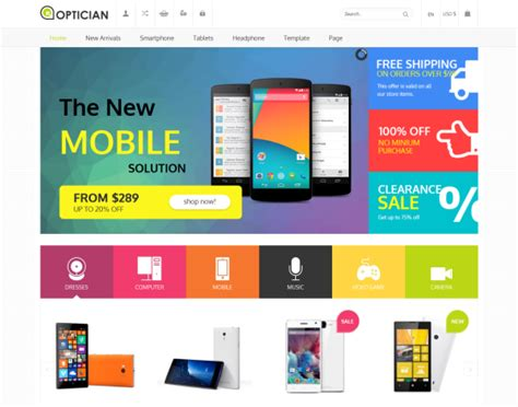 Premium Joomla 3 Templates by Vina Optician Premium Ecommerce Joomla 3 Template