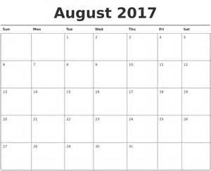 august calendar template august 2017 calendar printable