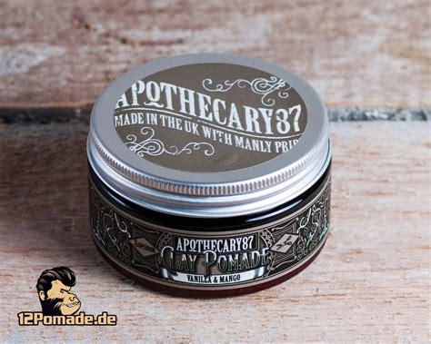 Pomade Vanilla apothecary87 clay pomade vanilla mango fester halt