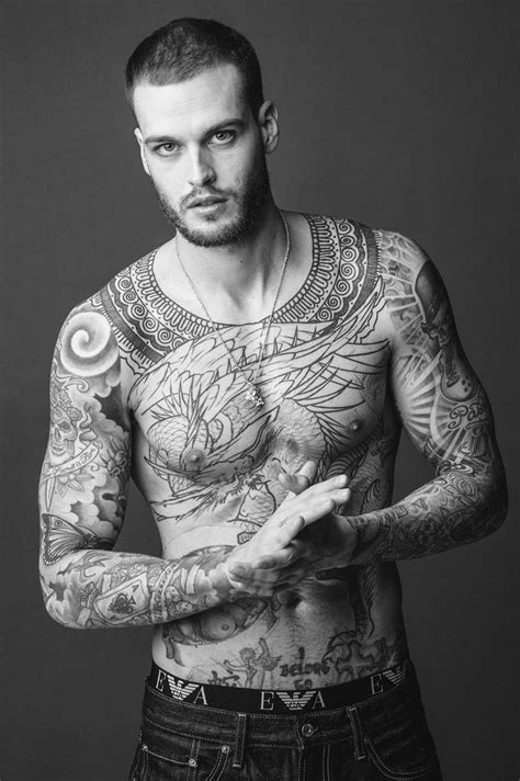 tattooed male models 1838 best tattooed pierced images on