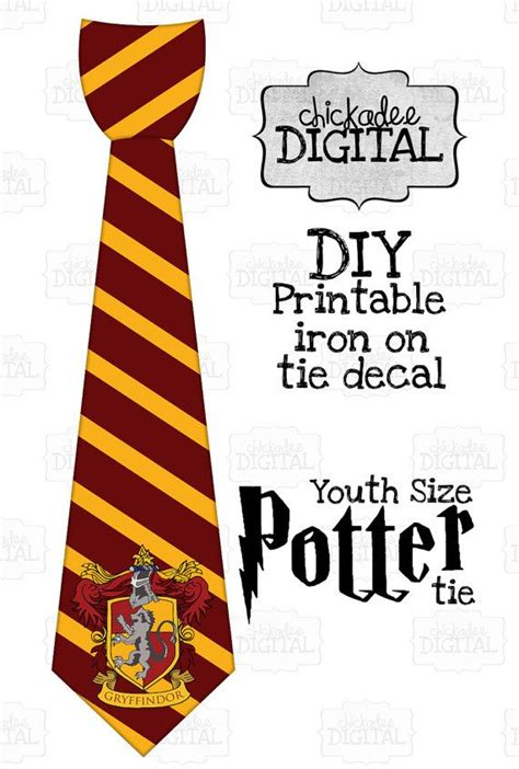 harry potter tie template 1 and gold wizard stripes tie printable diy iron on