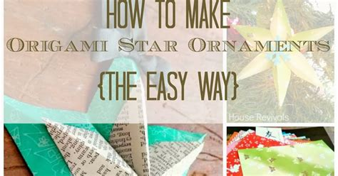 How To Make A Paper The Easy Way - house revivals how to make a folded paper the easy way