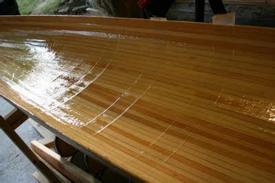 Life Of Gregory D Wood Strip Kayak Post 07 Glassing Deck