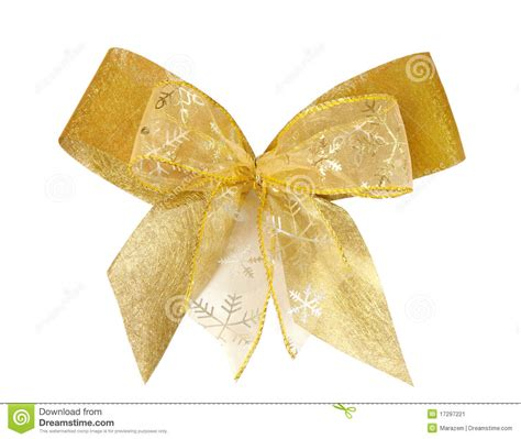 gold christmas bow stock image image 17297221