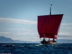 viking boats pictures replica vikings dragon ship reaches newfoundland daily
