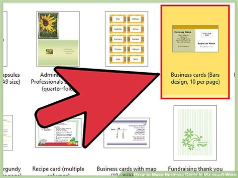card in microsoft word how to make business cards in microsoft word with pictures