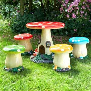 Gas Fire Pit Table Childrens Mushroom Garden Furniture 4 Seater Set Garden