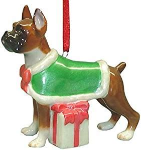 boxer dog xmas decoration boxer ornament statue figurine decoration home kitchen