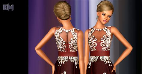 my sims 3 blog lace my sims 3 blog lace print dress by erysam