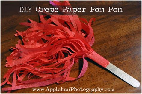 How To Make Cheerleading Pom Poms With Crepe Paper - diy crepe paper pom poms appletini photography