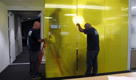 case study directionally transparent partition walls