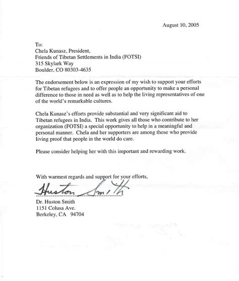 Endorsement Letter For Working Student Letter Of Endorsement