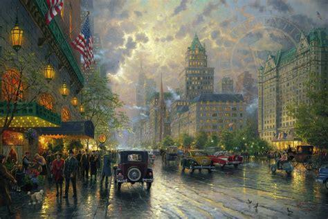 new painting free new york fifth avenue the kinkade company