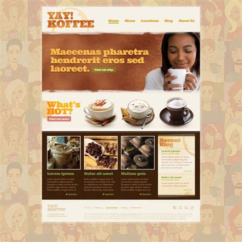 cafe design templates coffee shop web template free website templates