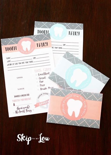 printable tooth fairy letter skip   lou