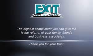 exit business cards blue exit business card design 117043