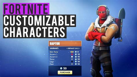fortnite skin creator advanced character customization fortnite battle