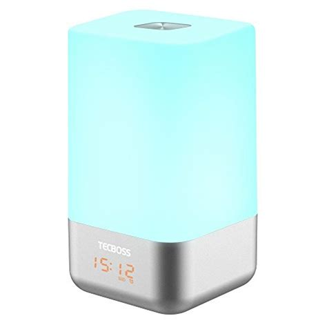 tecboss bedside l wake up light tecboss wake up light led bedside l alarm clock w