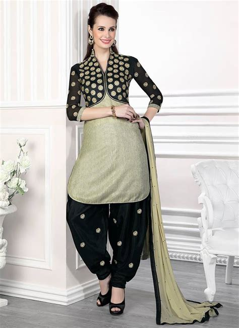 design of jacket salwar suit punjabi salwar kameez 2015 collection for girl