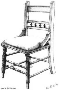 stuhl zeichnung positive space chair drawing