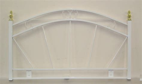 single metal headboard 3ft single metal headboard for bed in white finish the