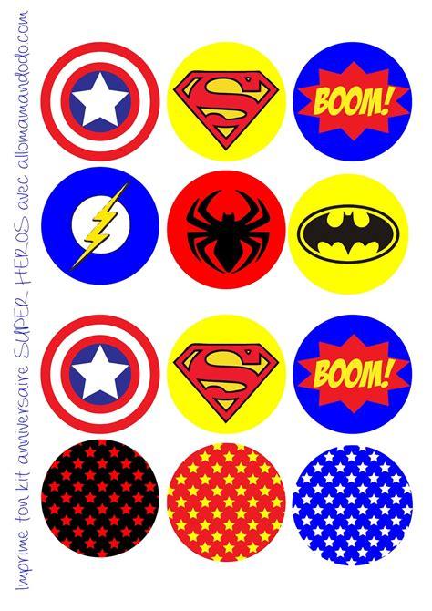 printable super heroes birthday party of superheroes free printable labels