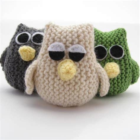 knitting pattern owl toy owl by natty knits craftsy