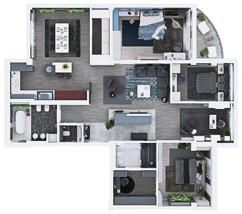 three bedroom apartment home and design pinterest luxury 3 bedroom apartment design under 2000 square feet