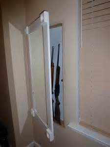 Gun Cabinet Mirror Secret Compartments Hidden Doors Secure Stashes