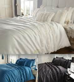 Bedding Sets Reduced Lille Diamante Detail Faux Silk Duvet Quilt Cover Bedding