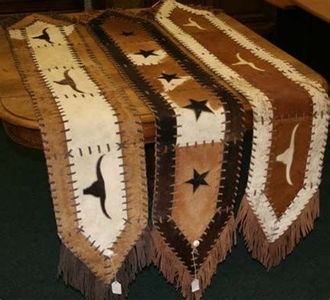 Cowhide Table Runner Yes I Know These Are Made Using Cowhide Table Runner