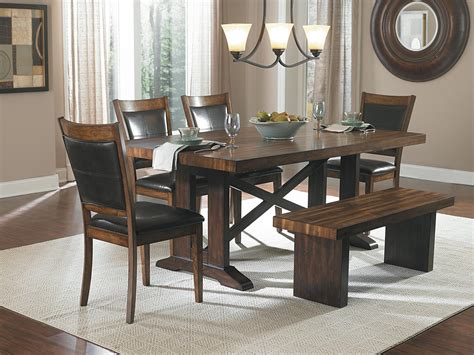 dining room set with bench furniture gt dining room furniture gt bench gt trestle style