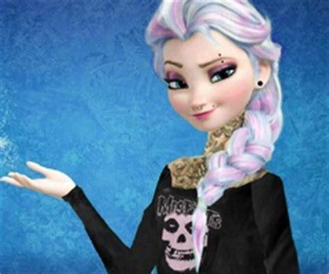 imagenes de elsa emo hipster elsa with black hair by puglover987 on deviantart