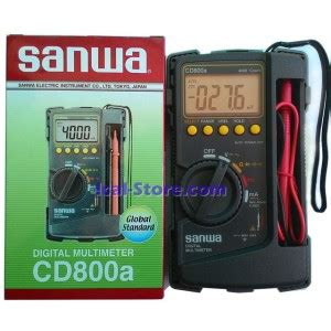 Multimeter Digital Merk Sanwa multitester multimeter digital sanwa cd800a ical store