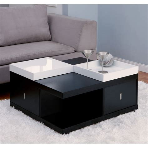 modern end table with storage contemporary coffee table wood modern storage drawer