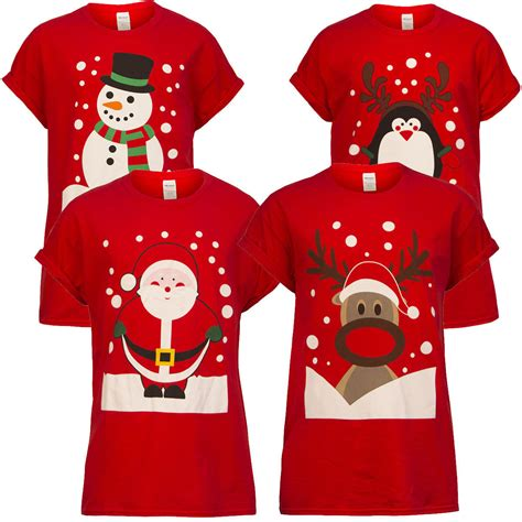 great gifts for adult unisex xmas winter warm family matching mens womens unisex xmax printing t shirt santa reindeer