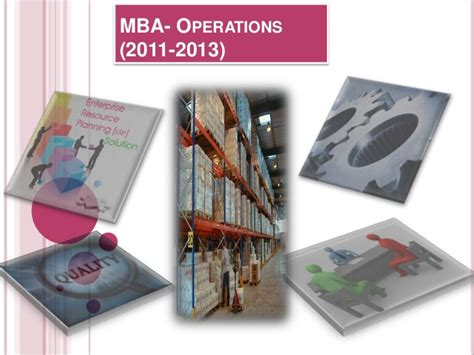 Mba Ops by Induction For Students Admitted Pumba On Operations Management
