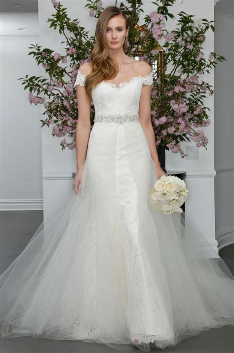 shoulder bridal dresses everafterguide