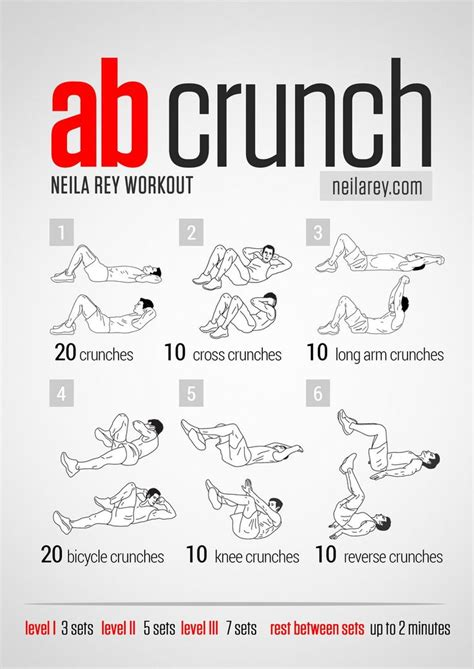 neila ab crunch workout workouts abs workout and crunches