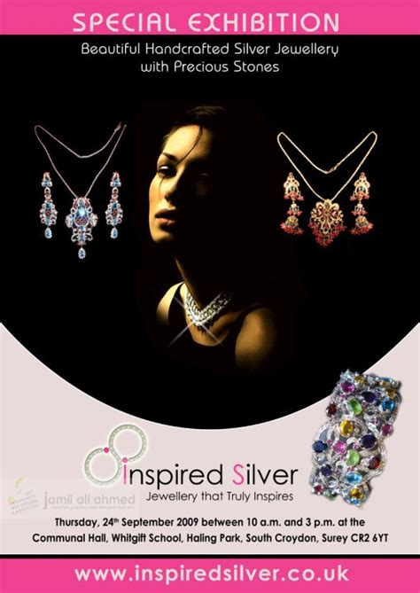 poster design for jewellery inspired silver jewellery poster by jamilali on deviantart