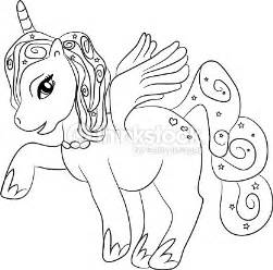 unicornio para colorear unicorn coloring page for vector thinkstock