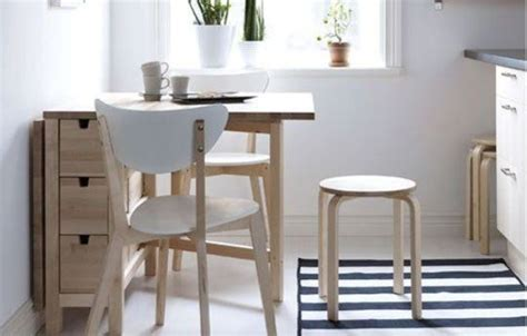 storage tables for kitchen 25 ways to use ikea norden gateleg table in d 233 cor digsdigs