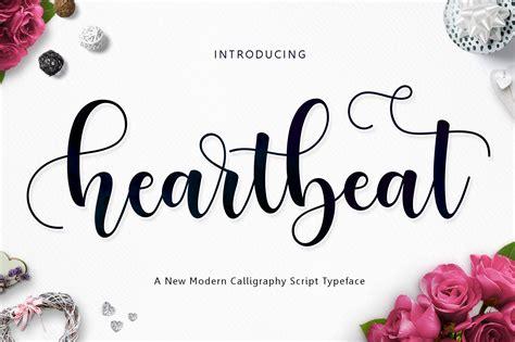 the script download heartbeat script by jamalodin font bundles