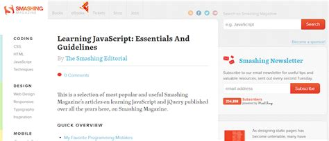 javascript section the 18 best javascript tutorials for wordpress developers