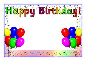 word document template birthday card birthday board classroom display resources printables