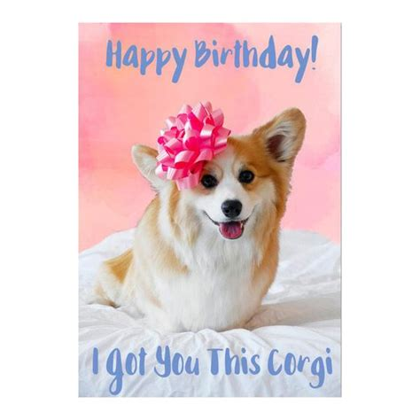 Corgi Birthday Card ? gangcraft.net