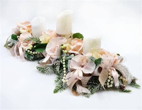 Composizioni Floreali Con Candele Centro Tavolo Lungo Con Candele A Led Creazioni Floreali