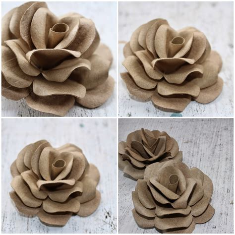 Empty Toilet Paper Roll Crafts - diy how to make roses using empty toilet tissue