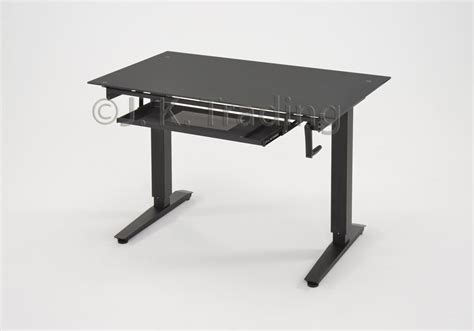 glass top adjustable height desk glass top for height adjustable standing desk